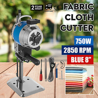 Fabric Cloth Cutter Blue 8'' Cutting Machine Cutter Auto Sharpening Linen 750W