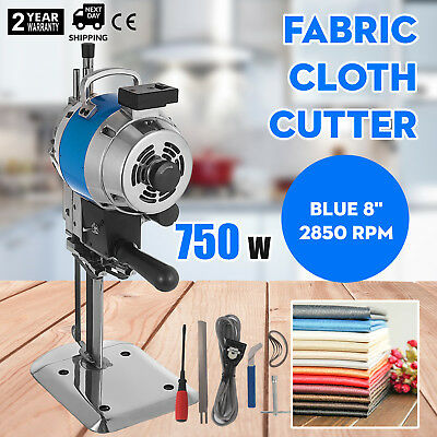 "Fabric Cloth Cutter Blue 8"" Cutting Machine 2850rpm Auto Sharpening Low Noise"