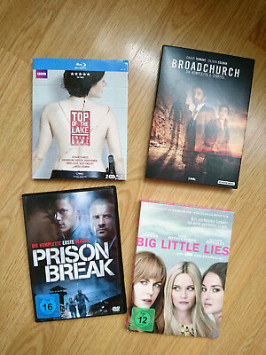 Big Little Lies, Broadchurch 3, Prison Break (1), Top of the Lake (Ch. Girl)