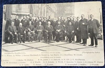 Postcard of the 29 Labour Members Elected To Parliament 13th Feb 1906 MacDonald.