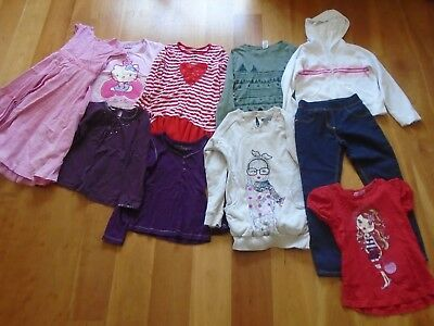 Bundle of girls clothes - age 7-8 - 10 items - Monsoon, M&S, George