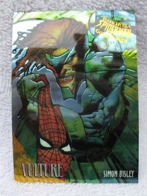 VULTURE GOLDEN WEB #9 from 1995 FLEER ULTRA SPIDERMAN TRADING CARDS