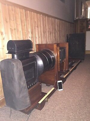 "REDUCED -W.Butcher & Sons ""The Record"" Antique Magic Lantern. Enlarger. XXL Rare"