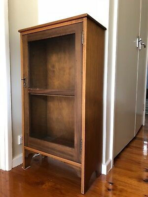 Antique Wood/glass Display Console