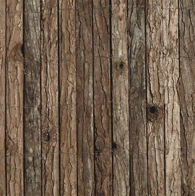 Bark Screen Fencing Roll Fence 1M(H) x 3m(W) Bark Wood Privacy Blockout