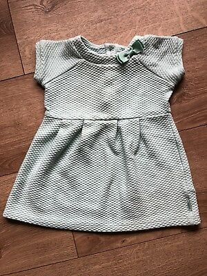 Baby Girls Ted baker Mint Gree Dress Quilted 9 12 Months