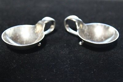Georg Jensen Sterling Silver Salt Cellars #110 Early Mark (2)