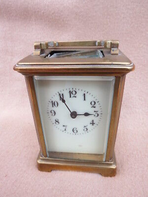 Antique French Brass R&co Carriage Clock For Tlc