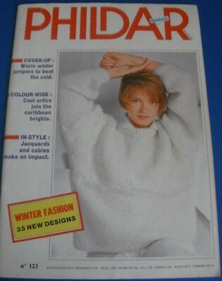 Phildar Mailles Winter Fashions Knitting Pattern Book 123 587
