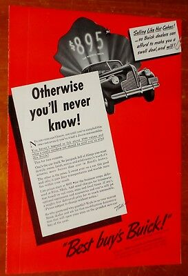 Neat 1940 Buick Business Coupe Best Value Ad + Vintage Retro American 40S