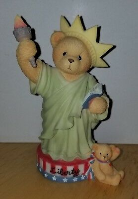MINT Cherished Teddies - Libby - 305979 - My Country 'Tis of Thee - Liberty