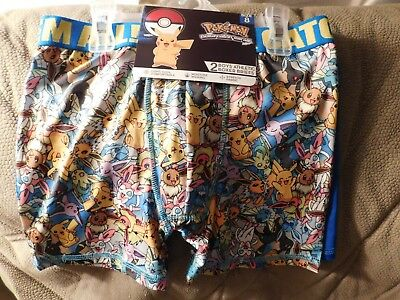 Pokemon Boy's Athletic Boxer Briefs - 2 Pack - Size 8 - Brand NEW