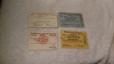 Lot Of 4 Railroad Passes/ 1 Price - Reduced