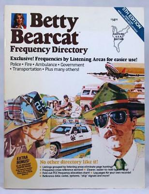 Betty Bearcat Frequency Directory Eastern US 5th Ed Guide police scanner Uniden
