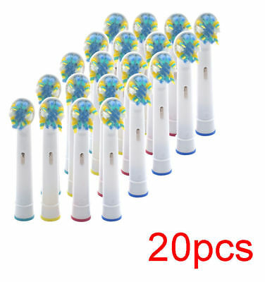 20 PCS Electric Tooth brush Heads Replacement for Braun Oral B FLOSS ACTION New
