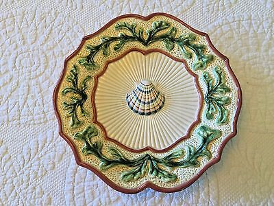 Fitz and Floyd Classics Fish Market Shell Scalloped Plate