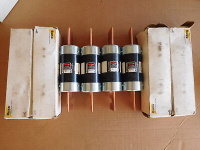 LOT: 4 New BUSSMAN Fusetron FRN-R-600 dual-element time delay fuses 600A RK5 USA