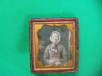 Sixth-Plate Daguerreotype Of A Woman In Half Case, Sealed
