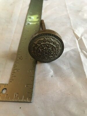 Eastlake Victorian Antique Brass Door Knob Doorknob Hardware 2 1/4""