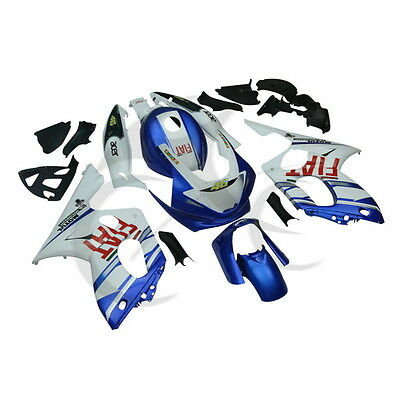 FOR Yamaha YZF600 YZF600R 1997-2007 00 01 02 03 Blue White Bodywork Fairing Set