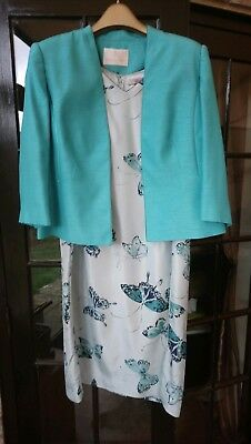 Jacques Vert size 18 Silk Dress And Jacket Mother Of The Bride Rrp £300