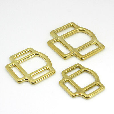 1x Solid Brass Horse Halter Square 3-Sided Halter Bridle Buckles Hardware Parts