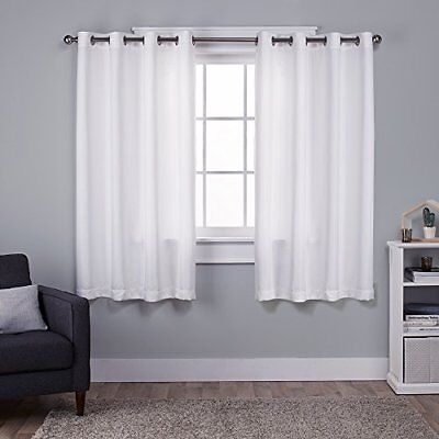 Exclusive Home tende in seta sintetica Virenze Grommet top Window Curtain panel