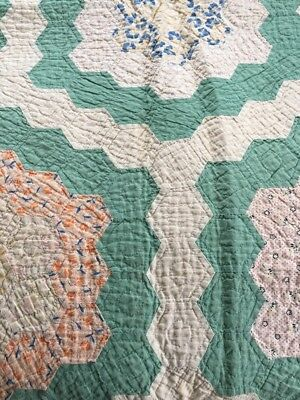 Antique Quilt 70X50   Appromimately Rare 150 Years Old Needs Some Work