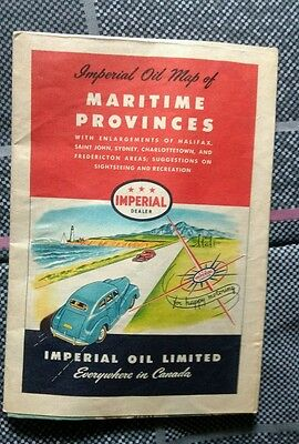 1948 Imperial Oil Maritime Provinces Road Map