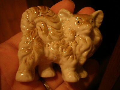 Antique Chow Chow Dog Figurine Bisque Porcelain Made In Japan