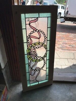 SG 2406 gorgeous antique ring of Jules transom window 15.5 x 37