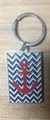 Disney Cruise Line Castaway Keychain DCL NEW Red Mickey Anchor