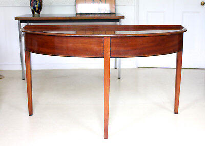 Antique Console Table Victorian D Shaped Large Half Moon Demi Lune Table