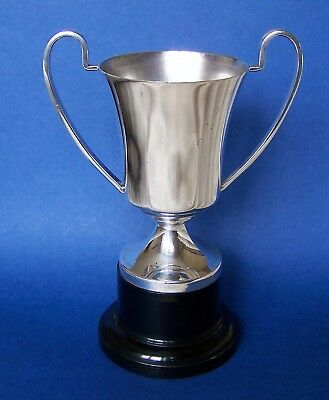 "Vintage Silver Plated, Mounted Trophy, Made in England, Makers Mark of ""Plato"""