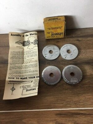 "The Warren Dado Sawing Washers Co. 5/8"" Bore with Box and Paperwork"