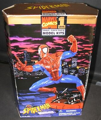 Spider-Man Level 1 Snap-Together Model Kit 1996 Toy Biz #48651 NIB Mint Sealed