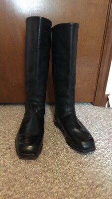 Sz 41 Calf Leather Soviet Chrome Officers Boots Great Condition Amazing Soles