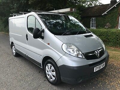 2008 58 Vauxhall Vivaro 2.0 Cdti 2900 Swb Van Silver Up Amd Over Door No Reserve