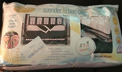 Go Mama Go Designs Wonder Bumpers Crib Bumpers Pink/Chocolate Brown Gently Used
