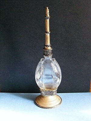 Vintage Antique ROSE WATER SPRINKLER - poss Middle East / Islamic - Glass Body