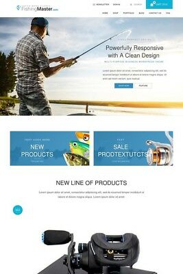 Fishing Website Store & Blog for Sale -  Responsive Wordpress Theme