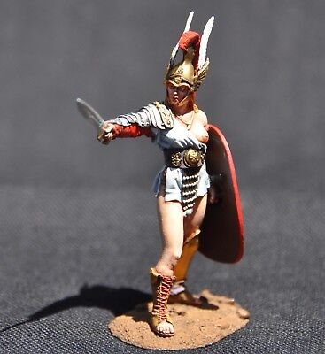 Moscow Miniatures Athena Goddess Of Wisdom & War Painted Cast Metal Figure