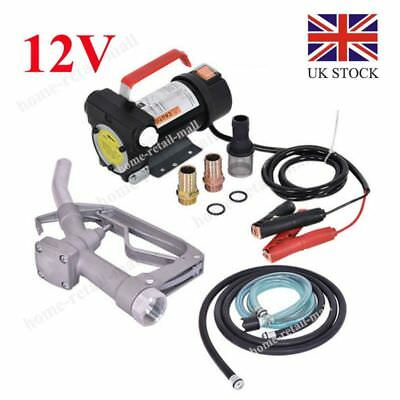 Portable 12V Diesel Fluid Extractor Electric Transfer Pump Car Fuel Auto Speed U