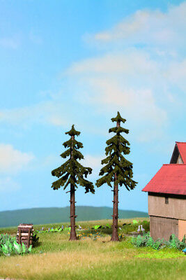 NOCH - 21925 High Trunk Spruce Trees, pieces, 12.5 cm and14 cm high H0,TT