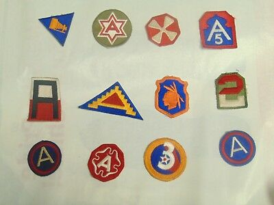 WW2 WWII Patch lot 2 AAF Army Command 12 patches