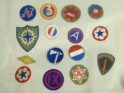 WW2 WWII Patch lot 1 AAF Army Command 15 patches