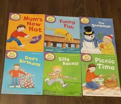 Oxford Reading Tree-Biff Chip & Kipper books x6 Level 2 First Stories, AS NEW