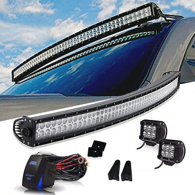 "Roof mounts for 52""/50"" Curved Led Light Bar 99-04 Jeep Grand Cherokee WJ+4""18w"