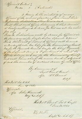 1864 signed general orders from General Meade