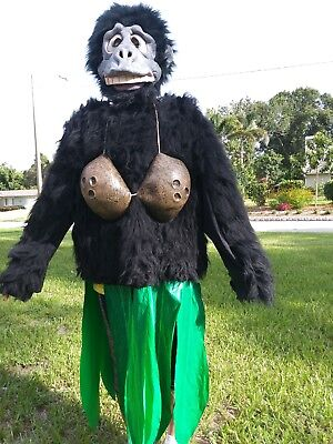 inflatable riding gorilla adult costume illusion funny monkey ape